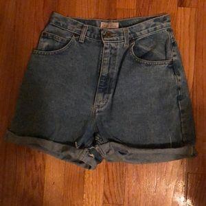High waisted vintage denim shorts